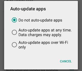 Cara Mematikan Automatis Update Aplikasi Android cover