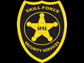 Placa de empresa de segurança patrimonial