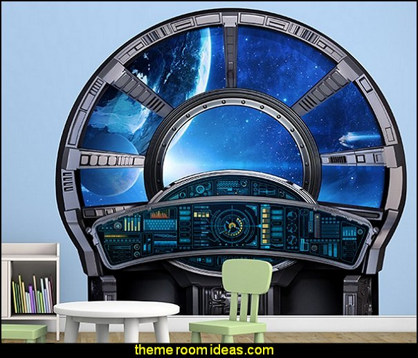 Spaceship Control Window Wall Decal  Star Wars Bedrooms - Star Wars Furniture - Star Wars wall murals - Star Wars wall decals - Star Wars bed - space ships theme beds - Star Wars Bedroom - Star Wars Decor - Sci Fi theme bedrooms - alien theme bedrooms - Stormtrooper Star Wars Theme Beds - Star Wars bedroom decor