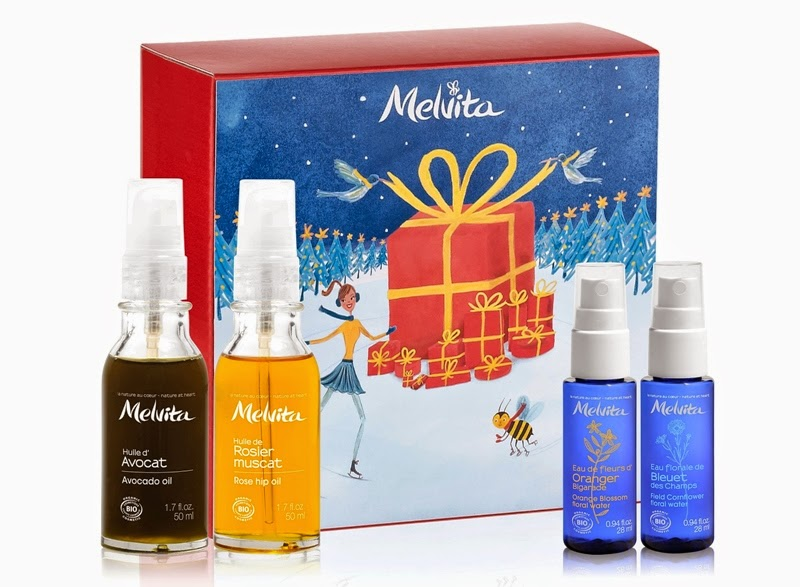 Best of Beauty Oils, Avocado Oil, Rose Hip Oil, Rose Floral Water, Cornflower Floral Water, Melvita Christmas Gift Sets, Melvita, Melvita Malaysia, Christmas Set, Christmas Gift
