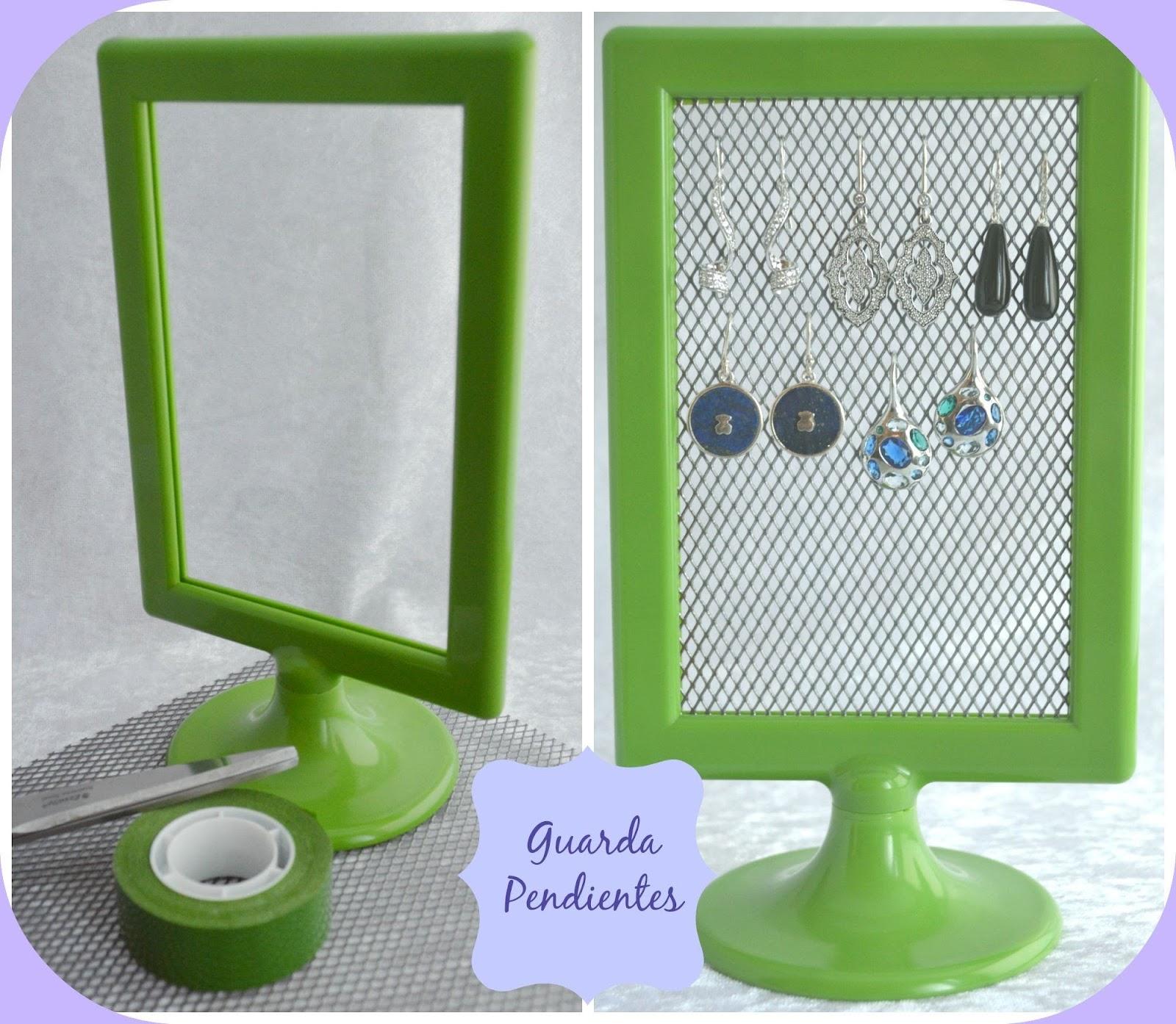 Expositor de pendientes con marco de ikea granny 39 s - Ikea portafoto ...