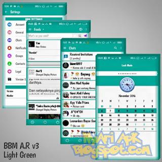 BBM MOD A.R Tema Light Green v3.1.0.13 APK