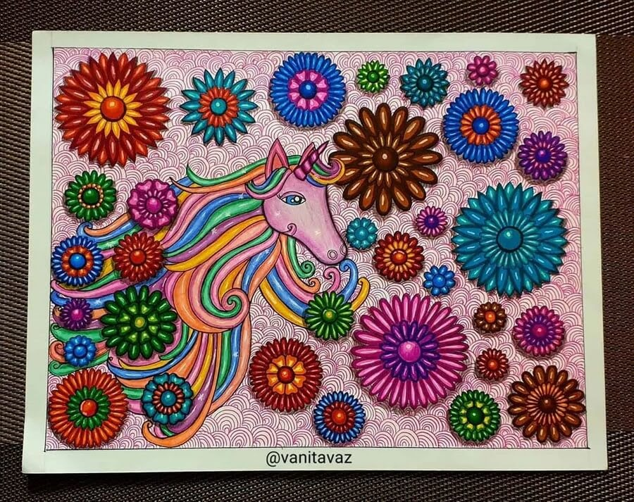 12-Unicorn-and-Ribbons-Vanita-Vaz-Mandala-and-Doodle-www-designstack-co