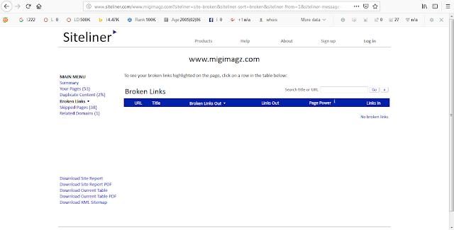 Cara Mengecek Broken Link / Link Yang Sudah Mati Pada Blog