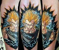 tatuaje personaje DBZ 2018