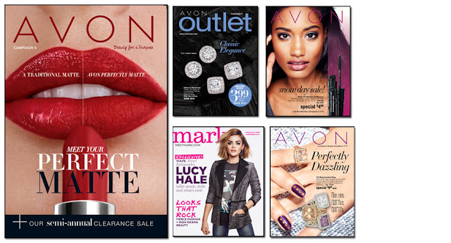 Avon Campaign 5, Avon Outlets, Avon mark magalog, The online date on this Avon catalogs 2/06/2016 - 02/19/2016