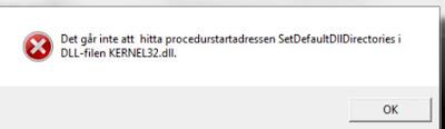 حل مشكلة تعذر تحديد موقع نقطة إدخال الإجراء في مكتبة الارتباط الحيوي kernel32.dll
