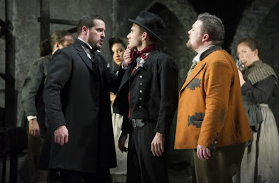 George von Bergen, Bradley Travis, Matthew Stiff - Mozart Don Giovanni - English Touring Opera - photo Richard Hubert Smith