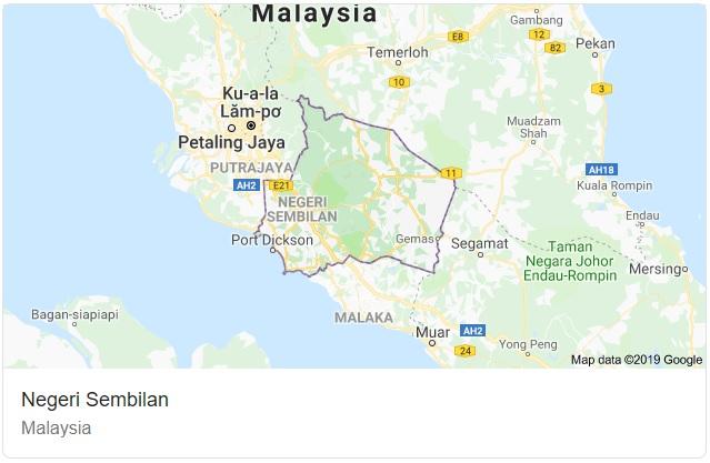 Negeri Sembilan Map