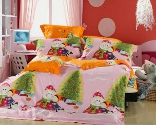 decoración navideña dormitorio infantil
