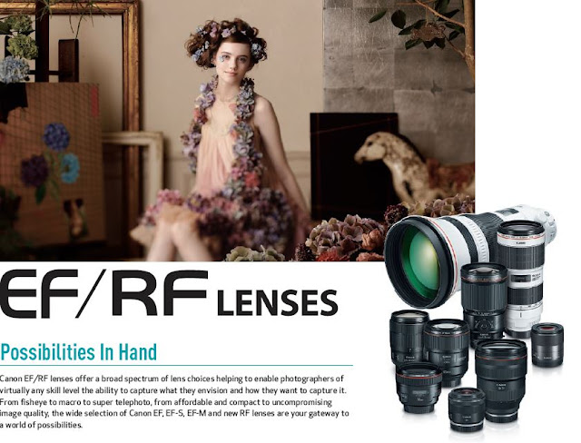 Canon EOS Camera System PDF Brochure Vol 8.02 Download  EF / RF Lenses