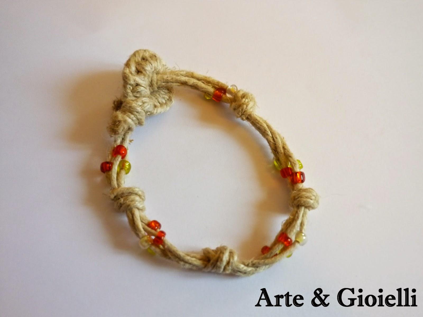 Arte gioielli bracciali in spago e cotone for Siti cinesi gioielli