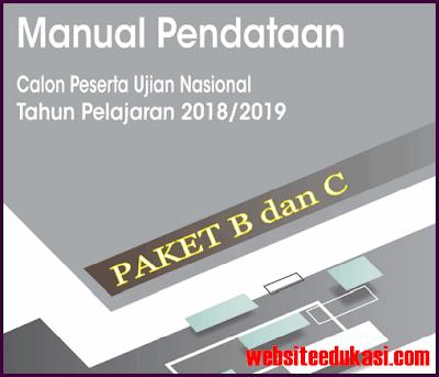 Manual Pendataan Peserta UN 2019 Paket B dan C