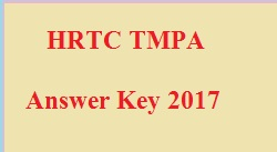 HRTC TMPA Test Answer Key