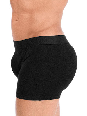 Rounderbum Padded Boxer Brief Underwear Black Side Detail Gayrado Online Shop