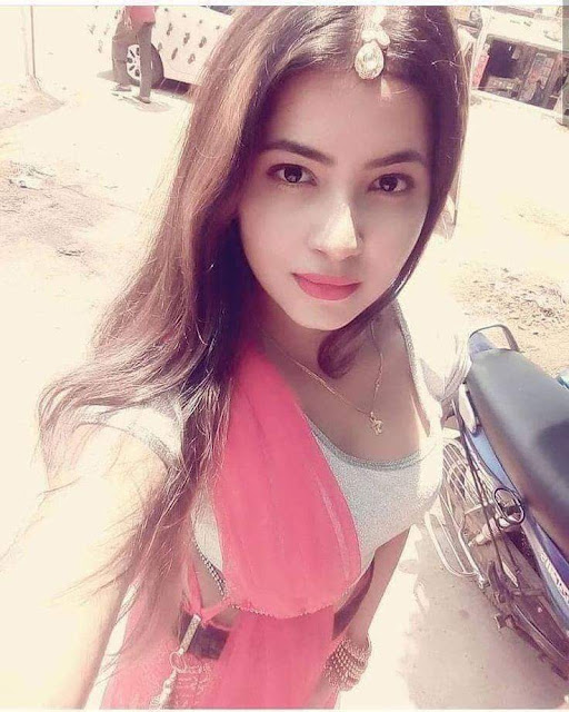 Beautiful Punjabi girl on road