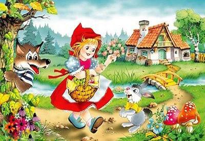 قصة ليلى والذئب او ذات الرداء الأحمر بشكل ممتع