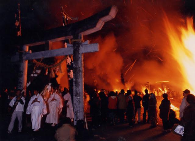 Shiwasu Matsuri (Fire Festival), Misato Town, Miyazaki Pref.