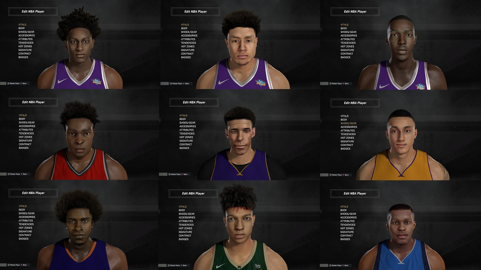 Shuajota Your Site For Nba 2k Mods Nba 2k17 Dna Ultimate Roster Rookies Cyberface Pack 1 Released