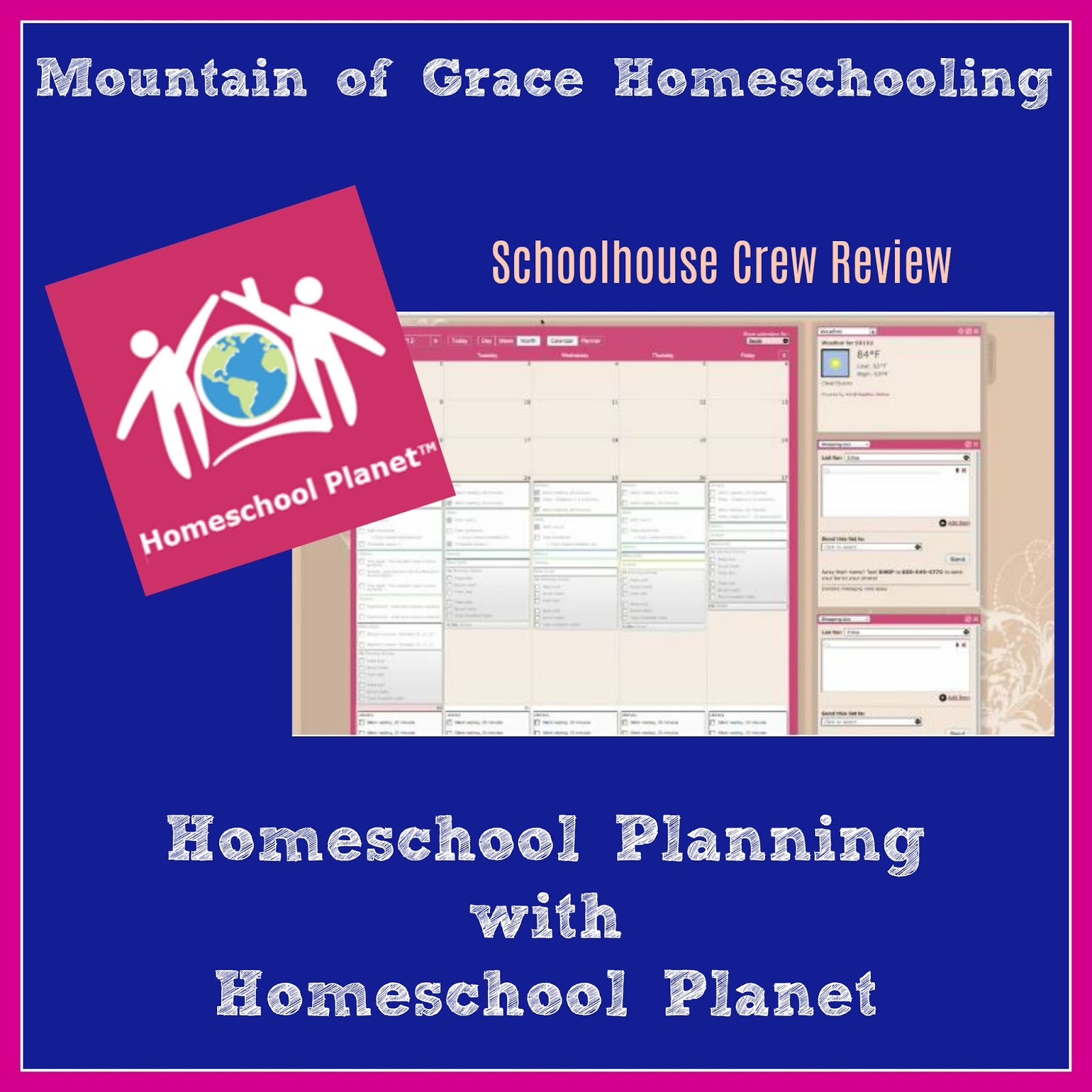 Mountain of grace homeschooling homeschool crew review for Planning tools