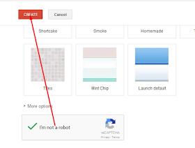 im not a robot klik create site
