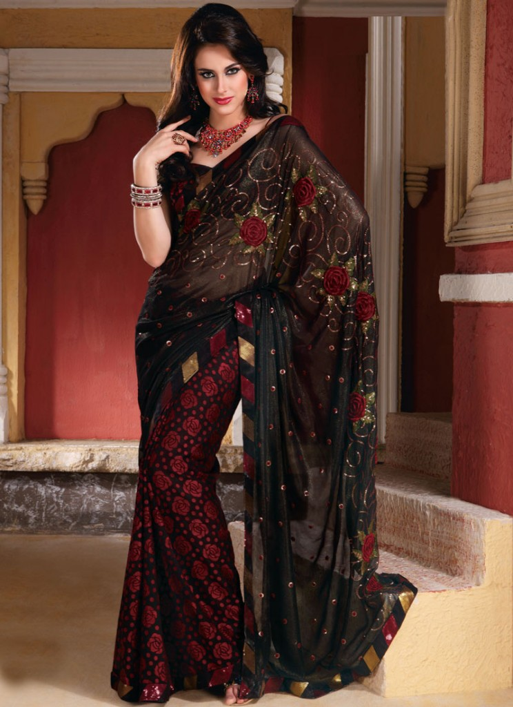 Latest Fashion Trend In Saree: Kewtified: Saree Fashion 2012 Latest Collection