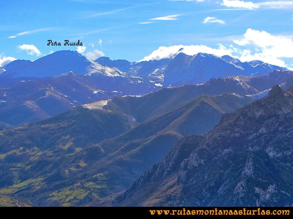 Rutas Montaña Asturias: Vista del macizo de Ubiña y Peña Rueda