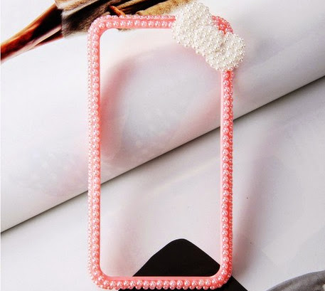 New latest bow knot mobile site bumpers for iPhone 4 4s 5 5s