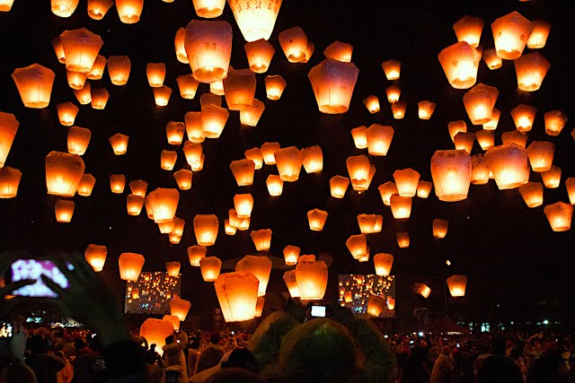 The Pingxi Sky Lantern Festival attracts thousands of tourists to Taiwan annually