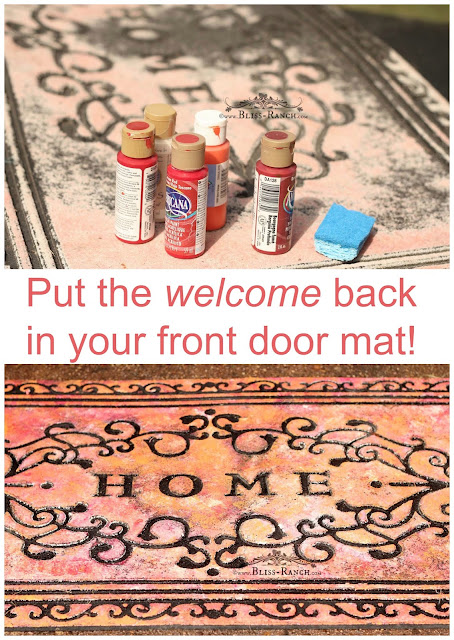 Painted & Revived Front Door Mat, Bliss-Ranch.com