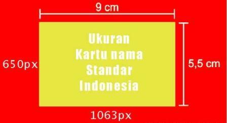 Ukuran Kartu Nama Standar Indonesia dalam CM dan di Photoshop