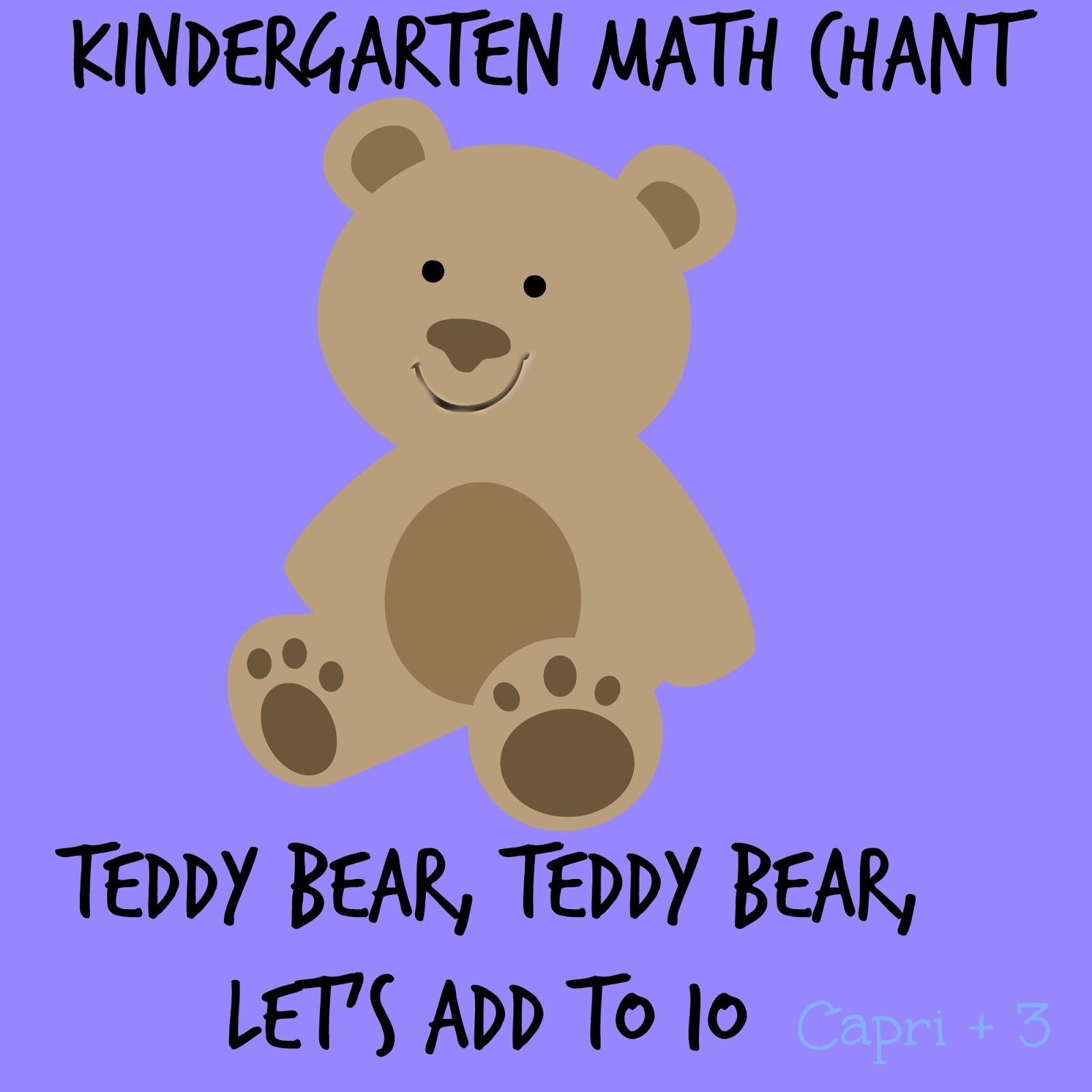 Teddy Bear, Teddy Bear, Let\'s Add to Ten-Kinder and Pre-K Math activity