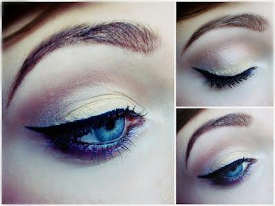 zimowy makijaż oka