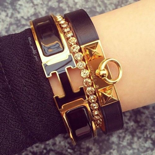 black hermes bracelet