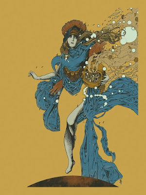 "C2E2 2016 Exclusive ""Astrea"" Metallic Variant Screen Print by Richey Beckett x Spoke Art"
