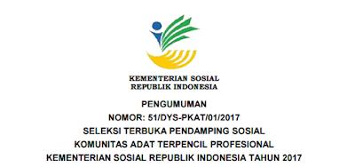 Lowongan Kerja Non PNS Terbaru Kementerian Sosial Republik Indonesia Tahun 2017