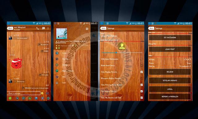 download BBM Mod Thema Kayu Versi Terbaru