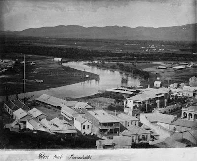 Ross Creek, Townsville (undated), the scene of several fatal shark attacks. (State Library of Qld)