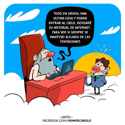 Hombre muere y llega a la puerta del cielo se encuentra con san pedro