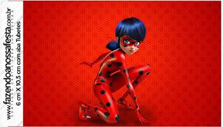 Etiquetas de Prodigiosa Ladybug para imprimir gratis.