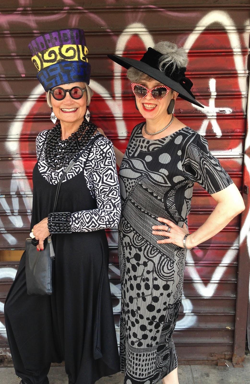 The Fashionomist The Hemline Index: Idiosyncratic Fashionistas: 40+ Style Comes To New York