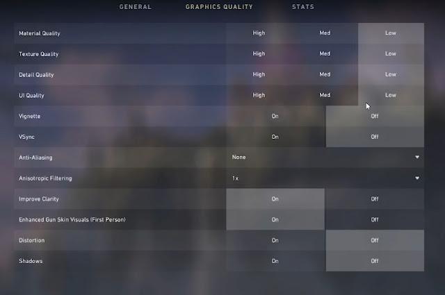 Valorant, In Game, Graphic Settings, UI