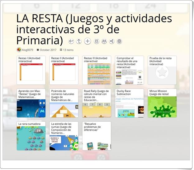 """""""13 Juegos y actividades interactivas para la práctica de LA RESTA en 3º de Primaria"""""""