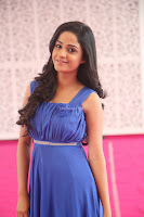 Divya Nandini stunning Beauty in blue Dress at Trendz Exhibition Launch ~  Celebrities Galleries 063.JPG