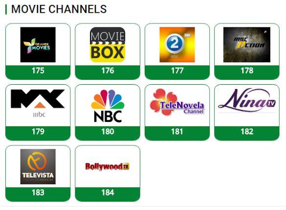 TSTV movies channels