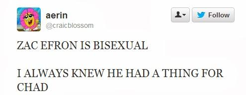 Zac Efron Bisexual