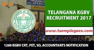 TS KGBV Online Application 2017 Eligibility Age Limit  for CRT SO