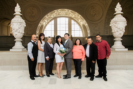 Brandy and Armando SF City Hall Wedding