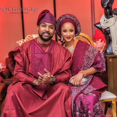 """I am here, specifically, for the bone of my bone, the flesh of my flesh"" - BankyW said to his new inlaws"