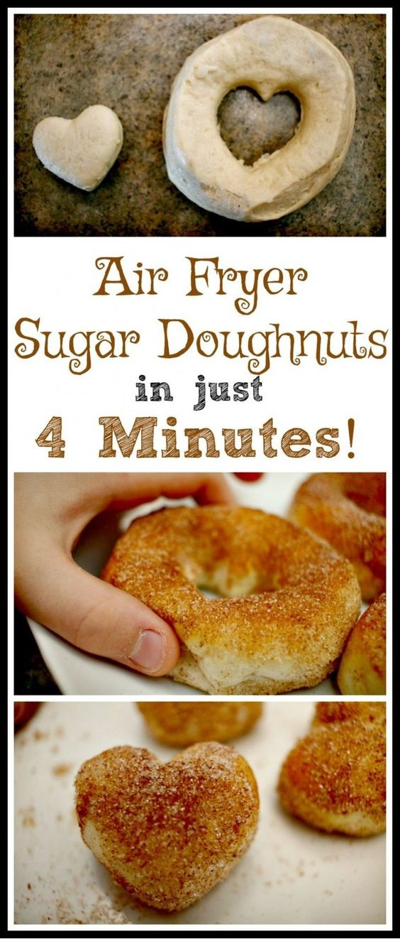 4-Minute Air Fryer Sugar Doughnut Recipe